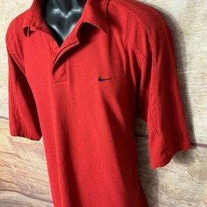 Nike Performance Mens Active Polo Shirt Red XL